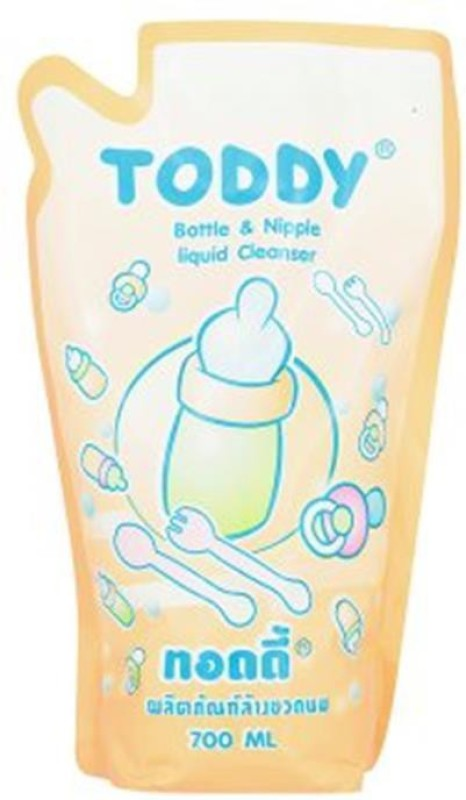 Baby Bucket Toddy Bottle & Nipple Liquid Cleanser - 700ml(Orange)