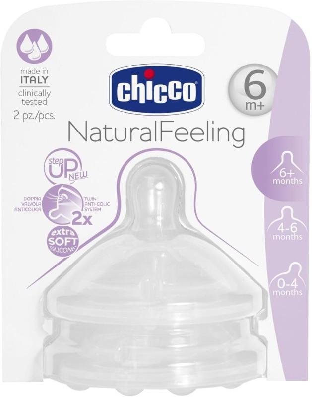 Chicco 2 Teat Stepup New 6M+ F Fast Fast Flow Nipple(Pack of 2 Nipples)