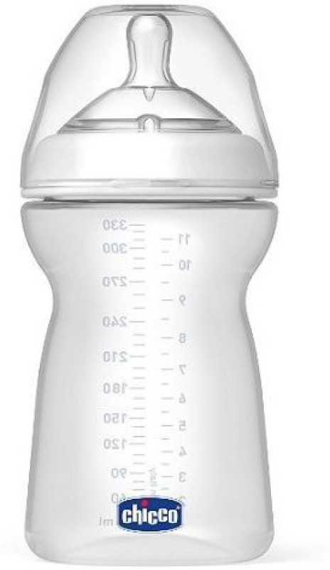 Chicco NaturalFit BPA FREE Baby Bottles and Nipples (11-Ounce Bottle and Fast Flow Nipple) Fast Flow Nipple(Pack of 4 Nipples)