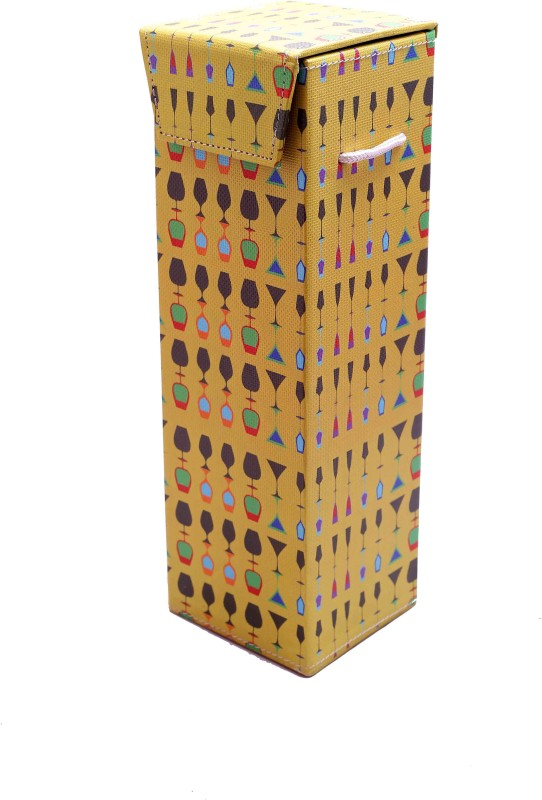 The Crazy Me Leather Bottle Rack Cellar(Multicolor, 1 Bottle)