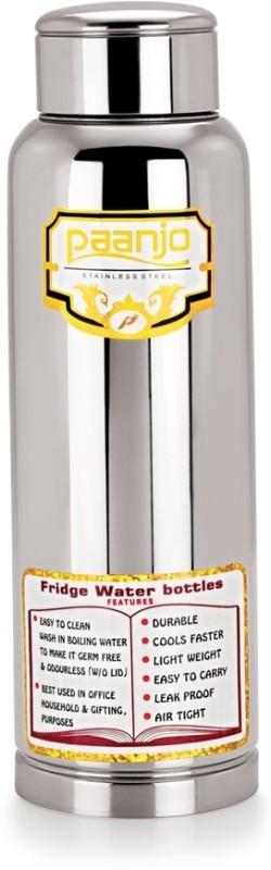 Paanjo Steel 600 ml Bottle(Pack of 1, Silver)