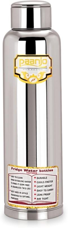 Paanjo Steel 900 ml Bottle(Pack of 1, Silver)