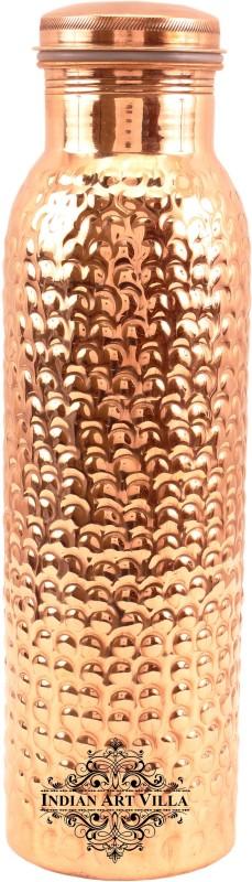 IndianArtVilla Bubble Design Leak Proof Hammered Water 550 ml Bottle(Pack of 1, Brown)