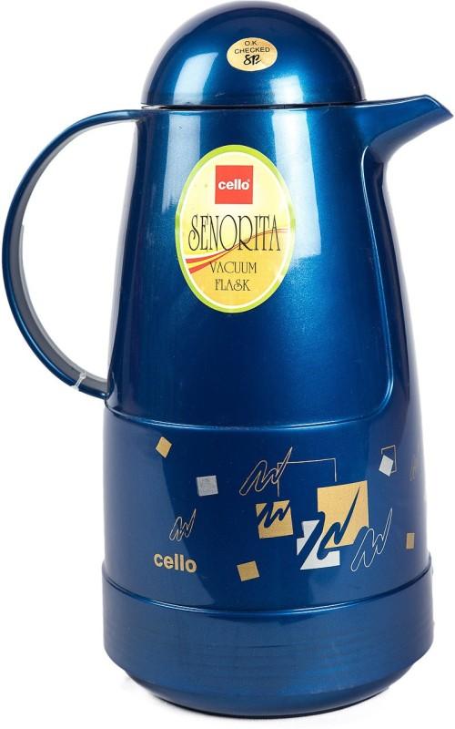 Cello Senorita 1000 ml Flask(Pack of 1, Blue)