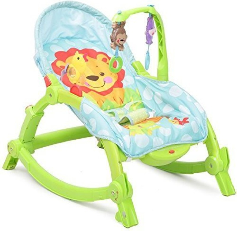 GoMerryKids Newborn-to-Toddler Portable Rocker Bouncer Chair Easy to Take Along Rocker and Bouncer(Multicolor)