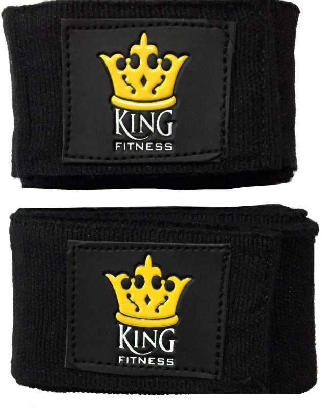 KING FITNESS XTREME PRO 2.75 METERS SET OF 2 Pcs Black Boxing Hand Wrap(Black, 180 inch)