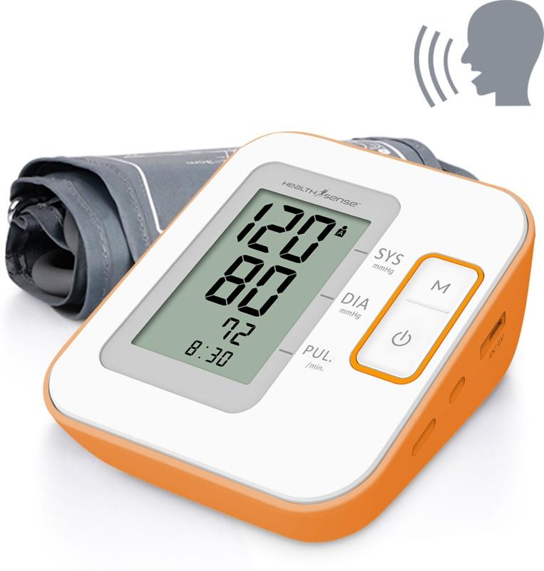 Health Sense Heart-Mate Classic BP-100 (Talking) Upper Arm Digital Bp Monitor(White, Orange)