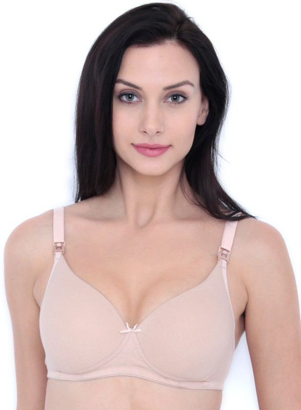 Inner Sense Womens Nursing Lightly Padded Bra(Beige)