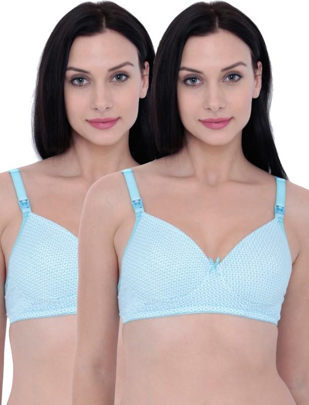 Inner Sense Womens Nursing Lightly Padded Bra(Blue)