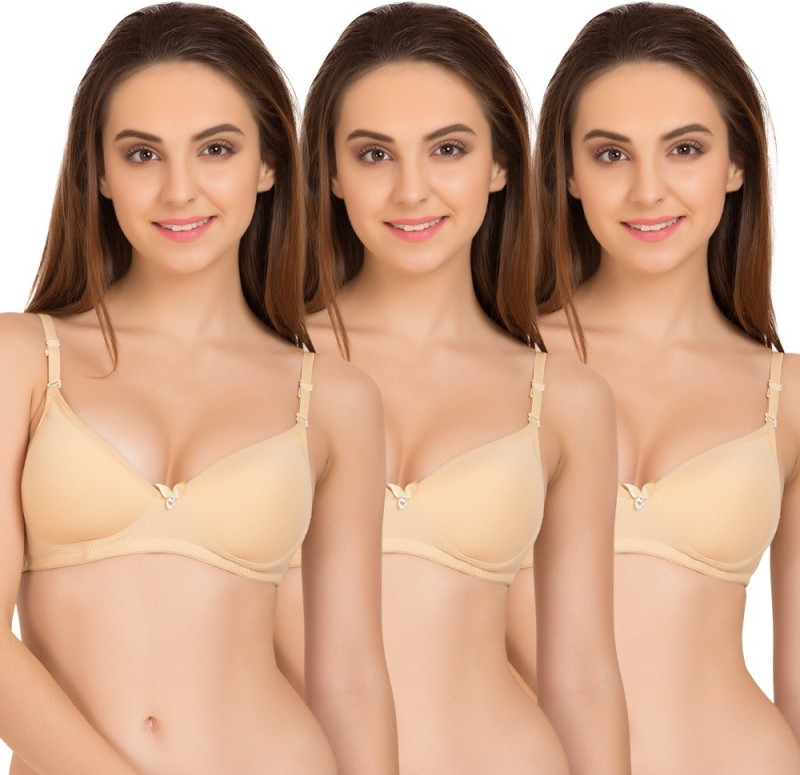 Tweens by Belle Lingeries Womens T-Shirt Lightly Padded Bra(Beige)