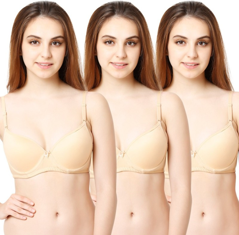 Tweens by Belle Lingeries Womens Full Coverage Lightly Padded Bra(Beige)