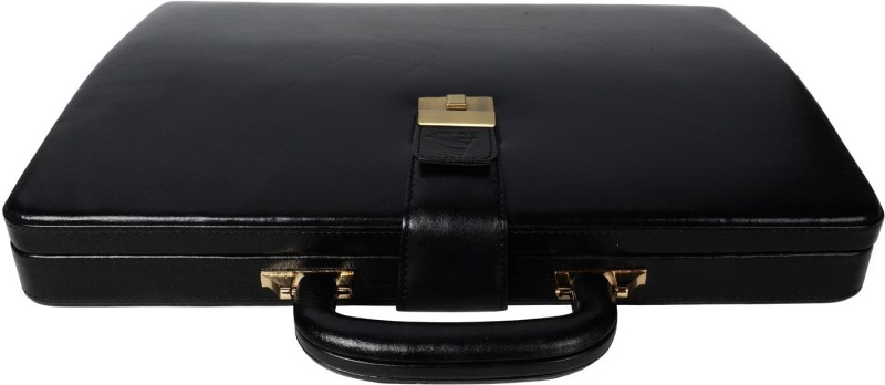Clubb Loop Leather Medium Briefcase - For Men(Black)