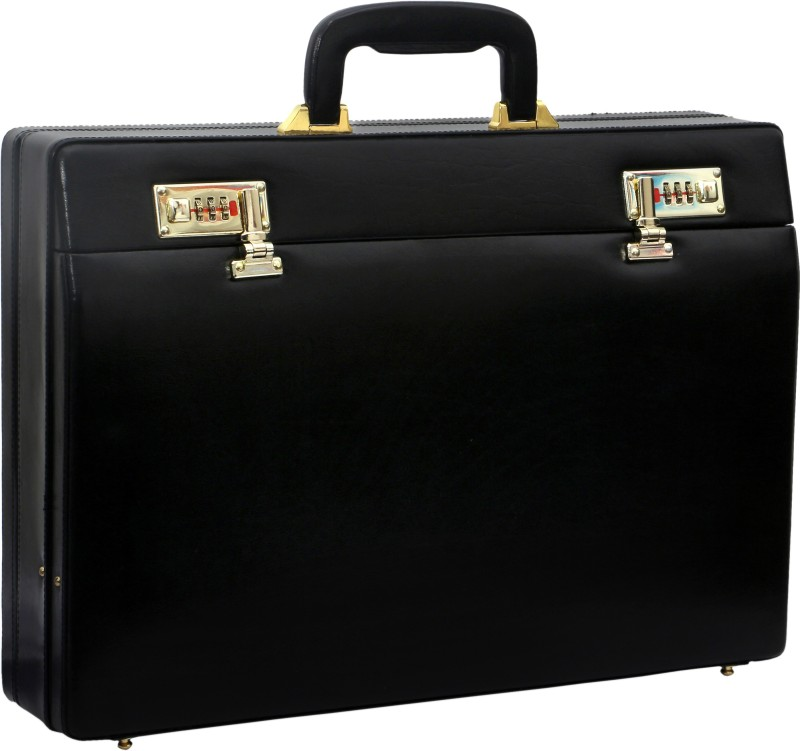 Rambler MARU EXP BLACK Medium Briefcase - For Men(BLACK)