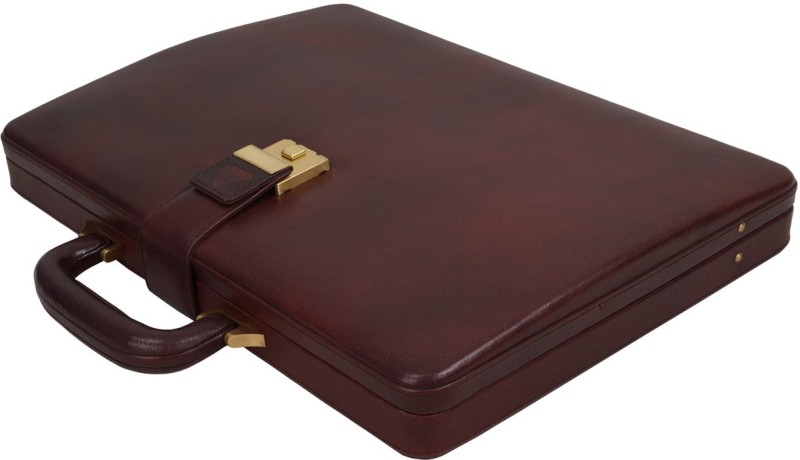 Clubb Loop Leather Medium Briefcase - For Men(Tan)