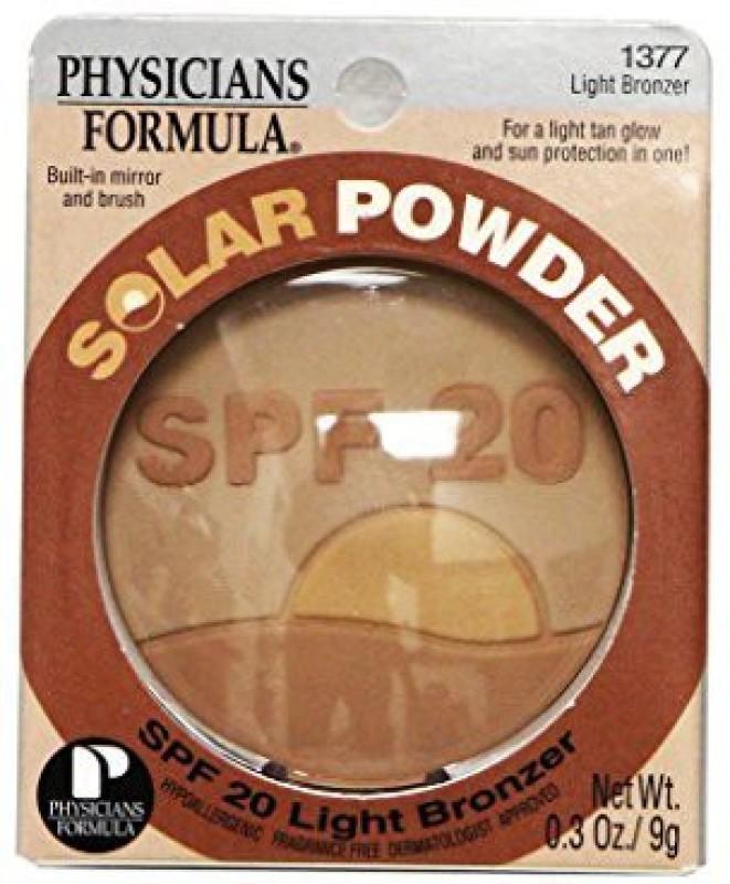 Physicians Formula Summer Eclipse Bronzing & Shimmery Face Powder, Moonlight/Light Bronzer 1371(Pearlescent Gold, Warm Bronze)