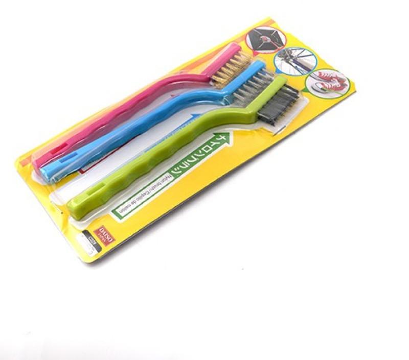 Pratha Nylon Wet and Dry Brush(Multicolor, Pack of 3)