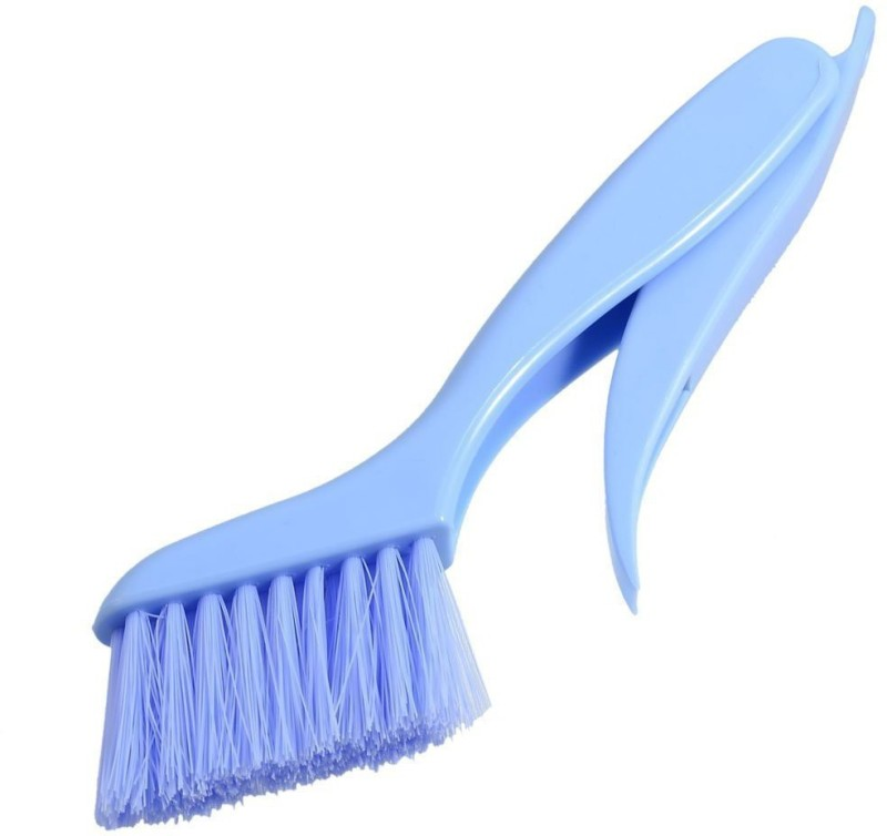 JLT Sunty Plastic Window Frame Cleaning Brush with Dust Dirt Scraper (Color May Vary) Plastic Wet and Dry Brush(Multicolor, Pack of 1)