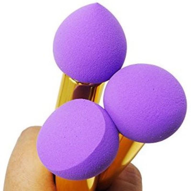 Akago Beauty Sponge Brush Different Shape Handled Makeup Brush(Pack of 3)