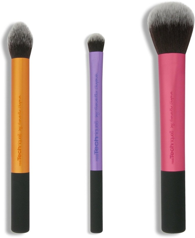 Real Techniques Travel Essentials Brush Set(Pack of 3)