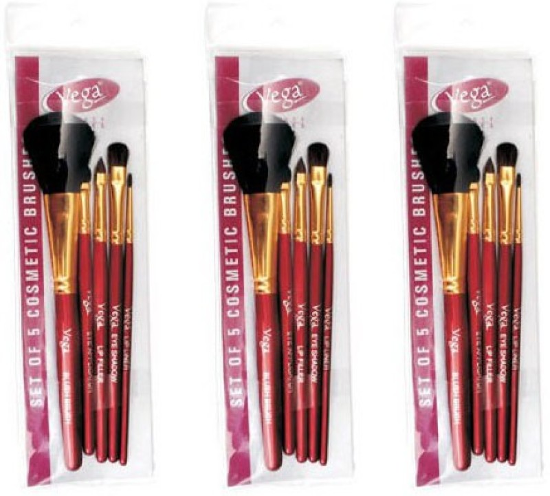 Vega Set Of Five Make-up Brushes(Pack of 15)