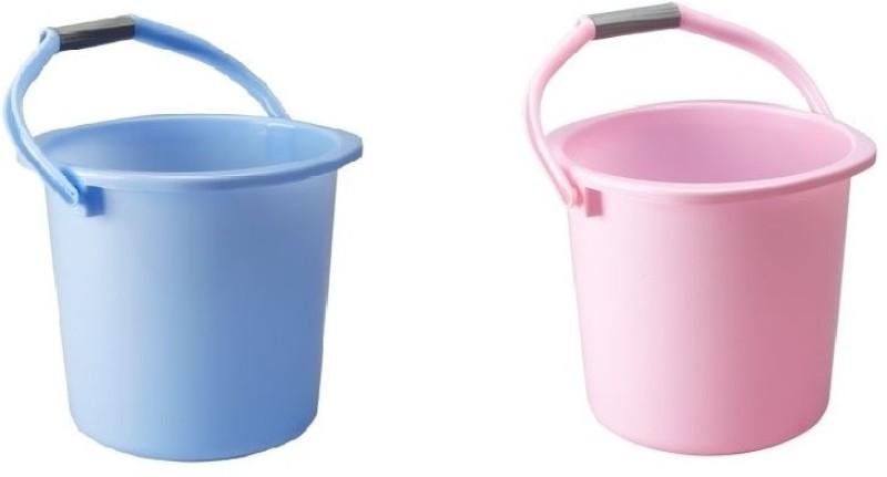 Milton Classic 20 L Plastic Bucket(Pink, Blue)