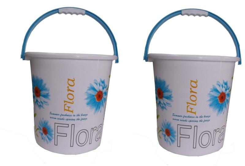 Nayasa 20 L Plastic Bucket(Blue, Red)