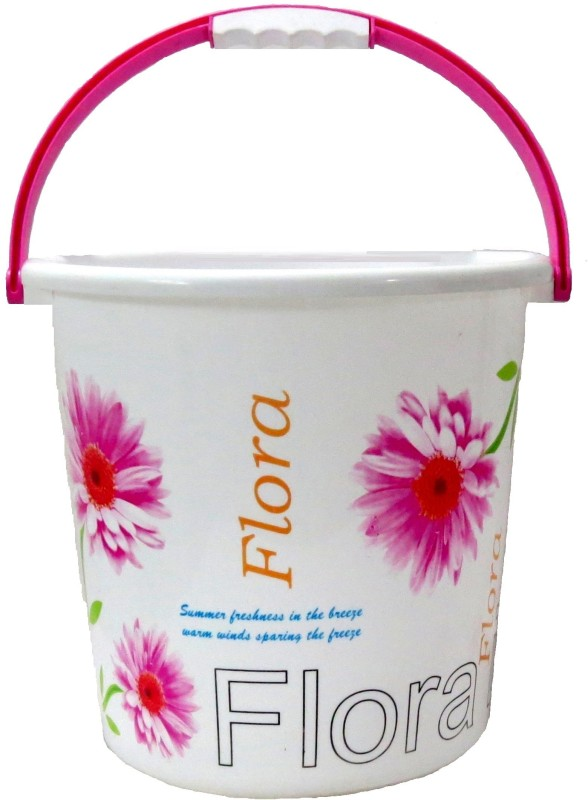 Flora Classic 18 L Plastic Bucket(White)