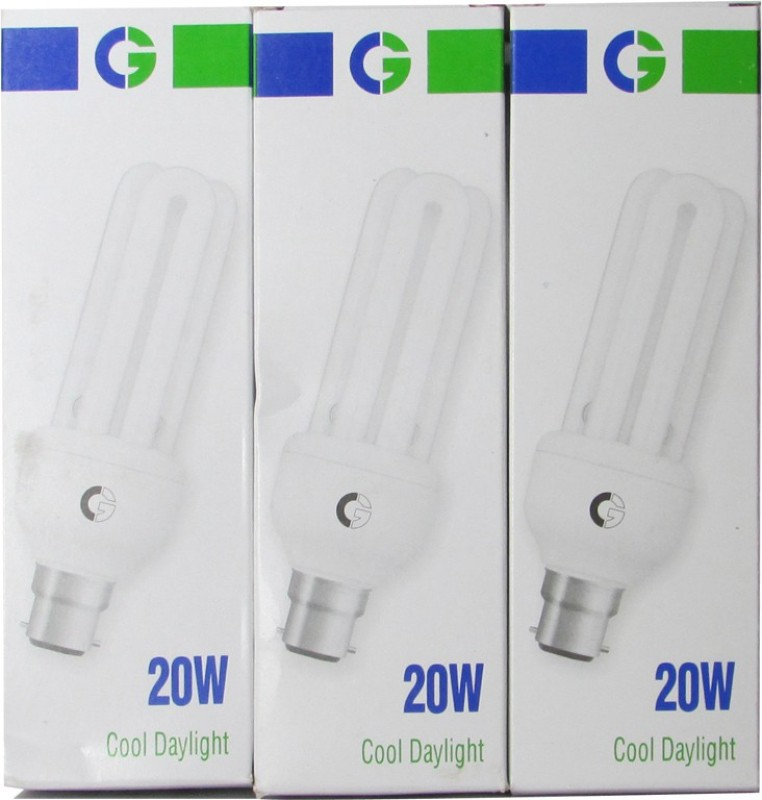 Crompton Greaves 20 W Standard CFL Bulb(White, Pack of 3)
