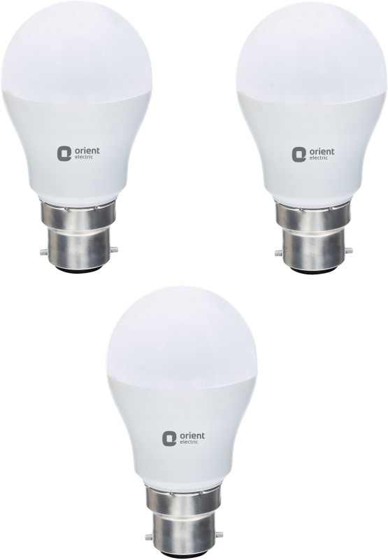 Orient 9 W Round B22 LED Bulb(White, Pack of 3)