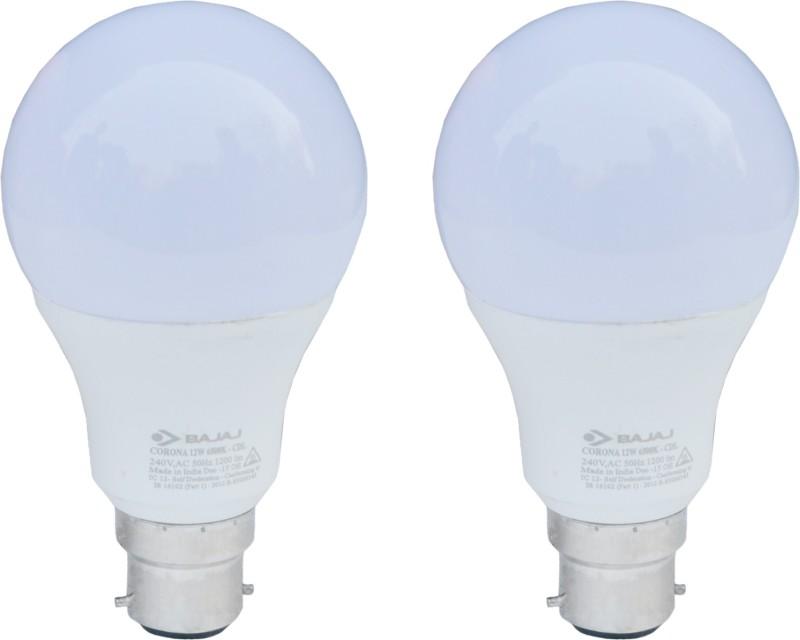Bajaj 12 W B22 LED Bulb(White, Pack of 2)