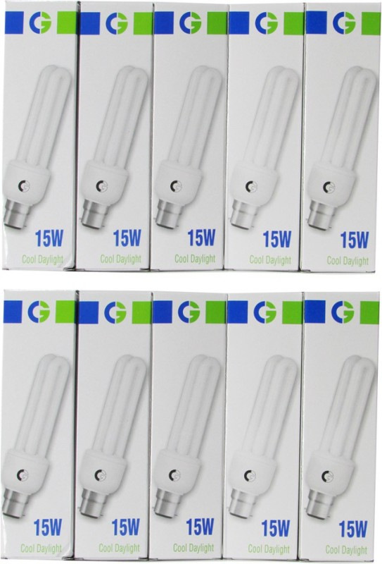 Crompton Greaves 15 W Standard CFL Bulb(White, Pack of 10)