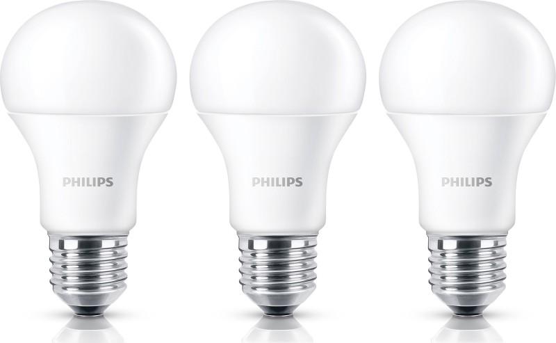 Philips 9 W E27 LED Bulb(White, Pack of 3)