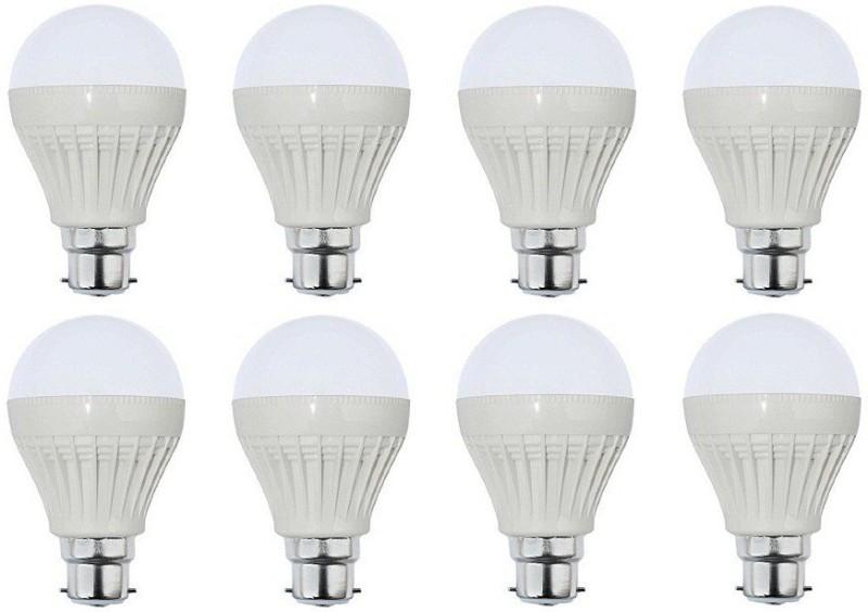 Parax 12 W Standard B22 LED Bulb(White, Pack of 8)