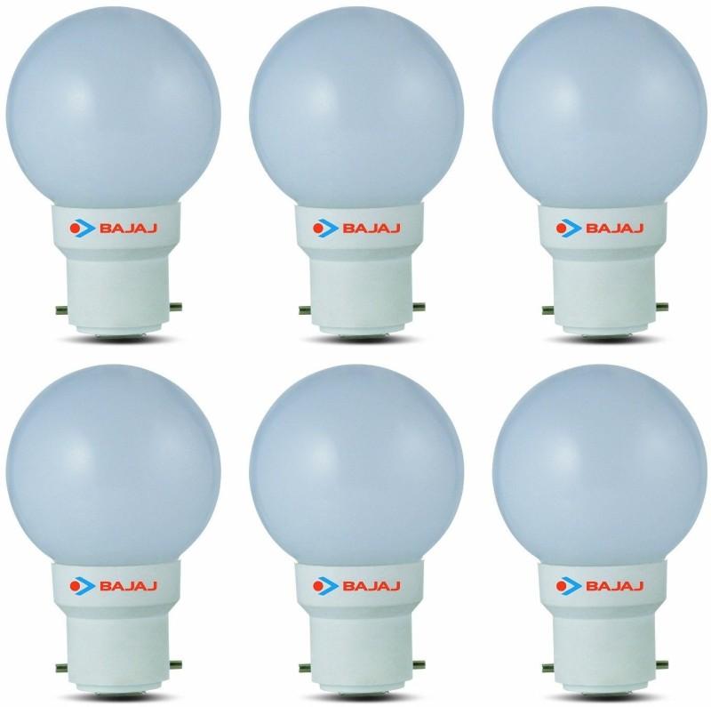 Bajaj 0.5 W Standard B22 LED Bulb(White)
