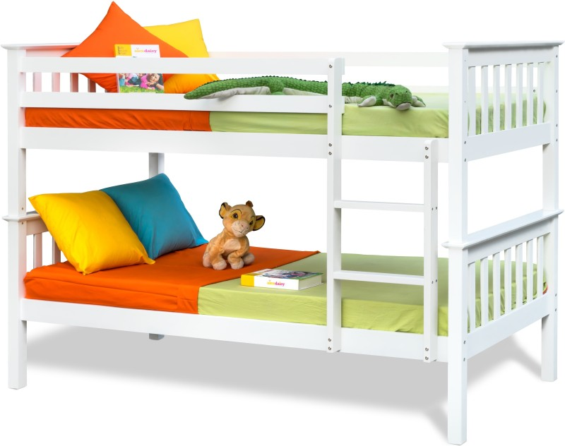 Alex Daisy Winston Solid Wood Bunk Bed(Finish Color - White)