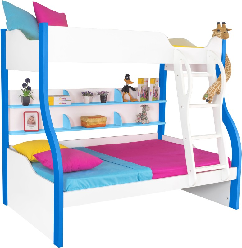 Alex Daisy Cloumbia Engineered Wood Bunk Bed(Finish Color - Blue & White)