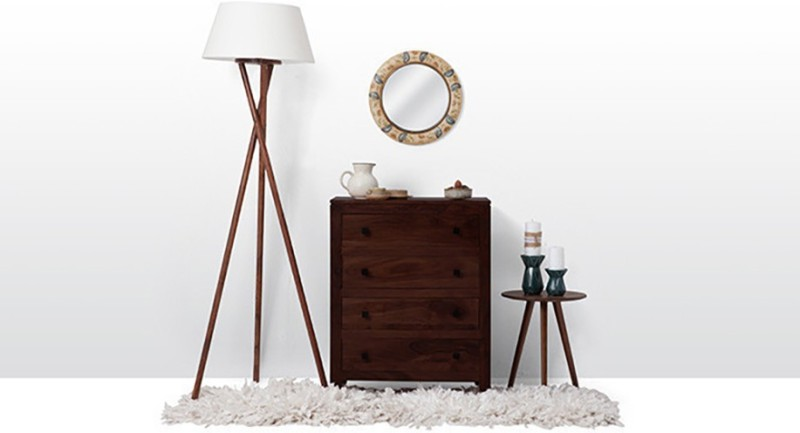 Urban Ladder Walter Solid Wood Free Standing Chest of Drawers(Finish Color - Mahogany)
