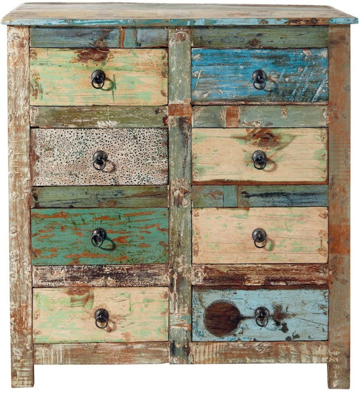 The Attic Solid Wood Free Standing Chest of Drawers(Finish Color - Multicolor)