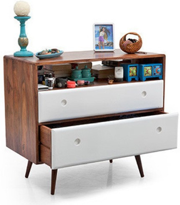 Urban Ladder Roswell Solid Wood Free Standing Chest of Drawers(Finish Color - Teak)