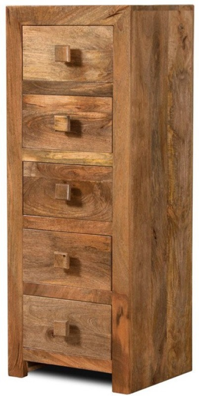 The Attic Solid Wood Free Standing Chest of Drawers(Finish Color - Natural)