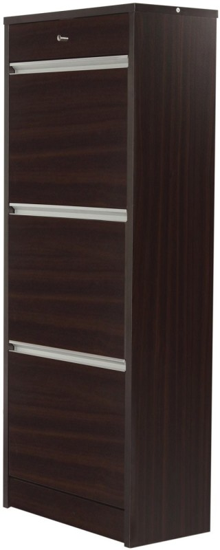 Godrej Interio Alpha Engineered Wood Free Standing Cabinet(Finish Color - Dark Walnut)
