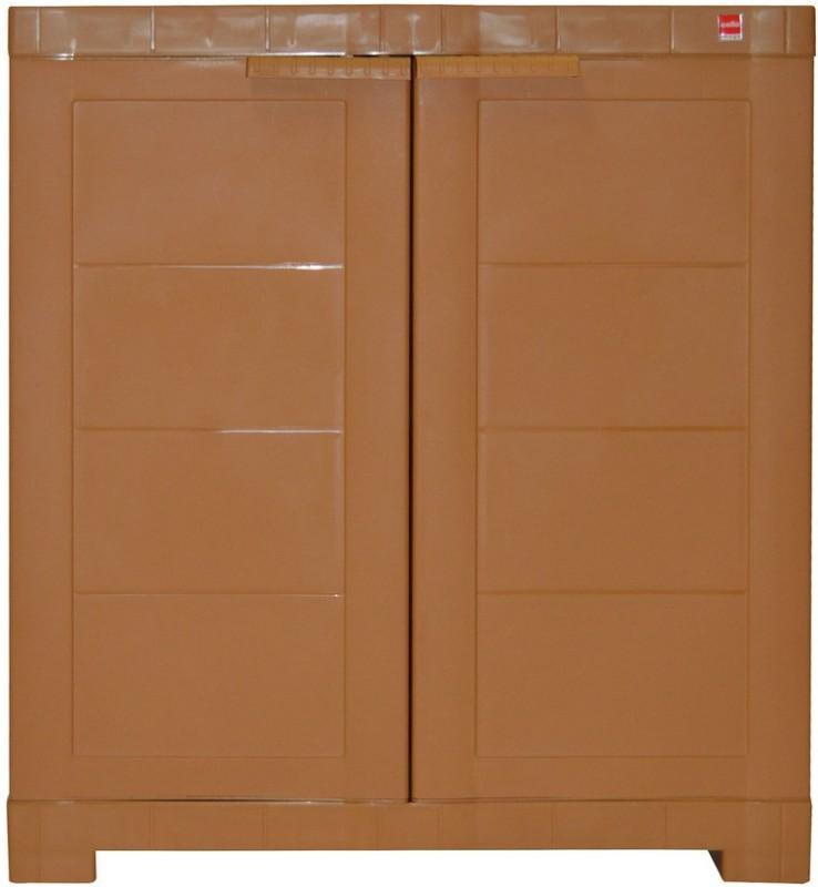 Cello Storage Cupboard Plastic Cupboard(Finish Color - Wood)