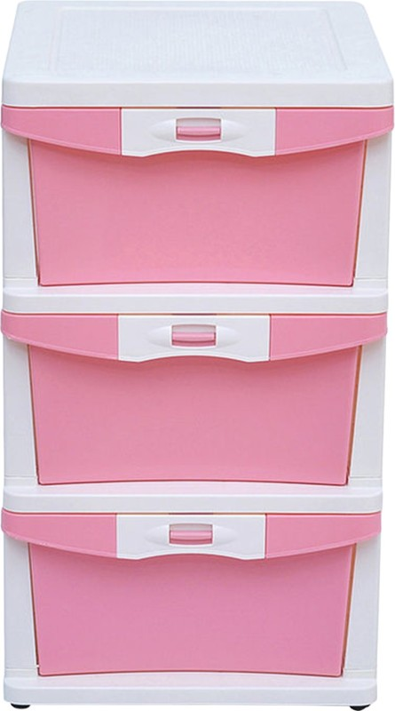 @home by Nilkamal Plastic Free Standing Chest of Drawers(Finish Color - White)