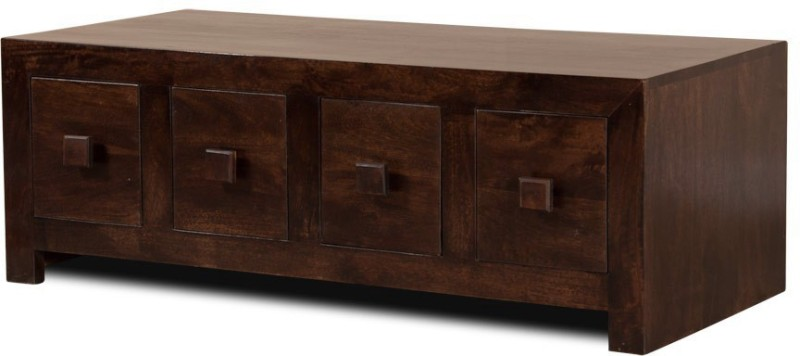 The Attic Solid Wood Free Standing Chest of Drawers(Finish Color - Walnut Brown)