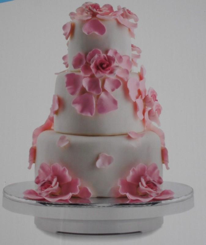 SICO HOMMATE CAKE TURNTABLE Plastic Cake Server(White, Pack of 1)