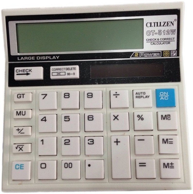 Cltllzen CT-512 White CT512 W CT-512W Basic  Calculator(12 Digit)