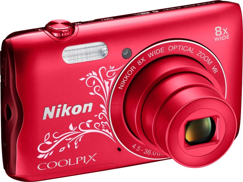 Nikon Coolpix A300 Point & Shoot Camera(Red Design) image