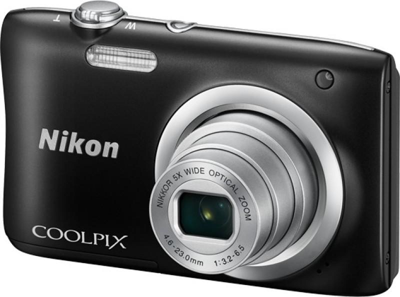 Nikon Coolpix A100 Point & Shoot Camera(Black)