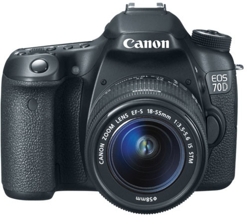 Canon EOS 70D DSLR Camera (Body with EF-S 18-55 mm...