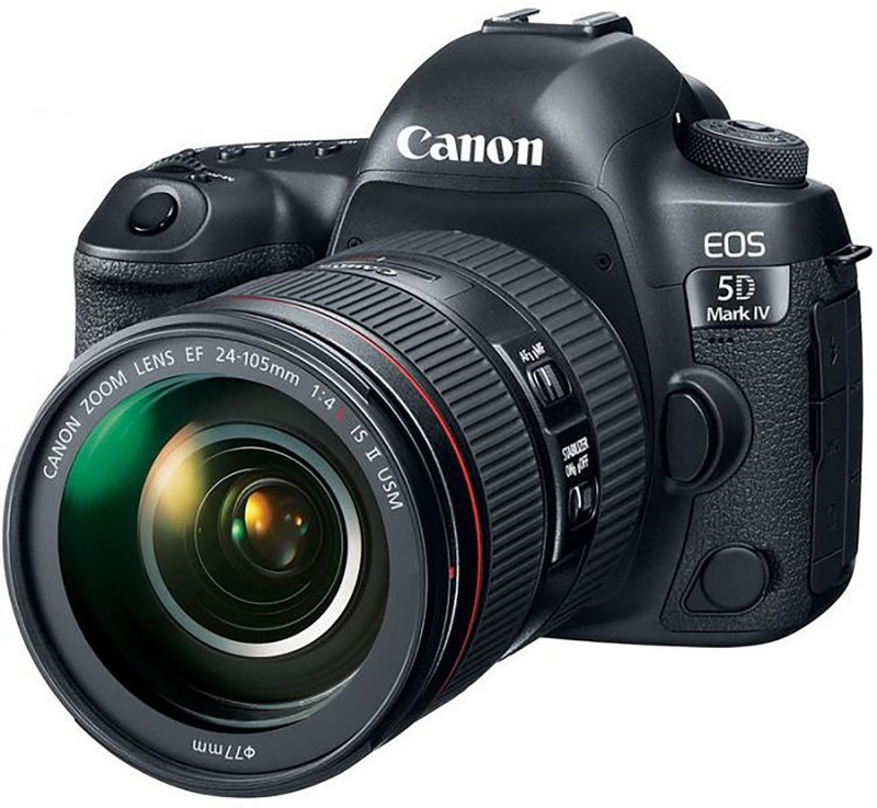 Canon EOS 5D Mark IV DSLR Camera Body with Single Lens:EF 24-105mm f/4L IS II USM Lens(Black)